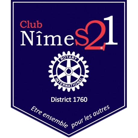Fanion du Rotary Club Nîmes 21