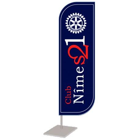 Oriflamme du Rotary Club Nîmes 21 Modele 2