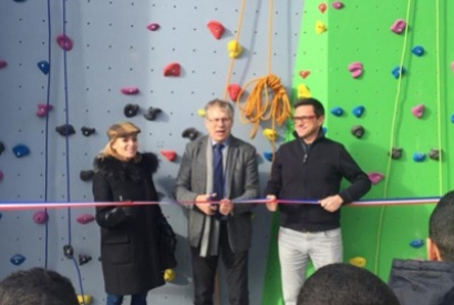 Inauguration du mur d'escalade de l'association Escalières